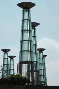 大型广场灯柱 JPG
