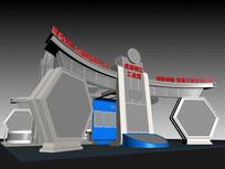 工业产品展厅模型 max