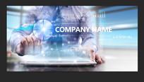 互联网科技企业文化宣传广告 PSD