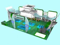 美利达自行车展厅模型