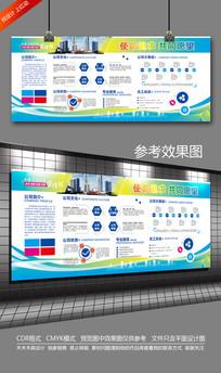 企业文化宣传背景墙设计模板