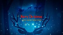 新年快乐圣诞背景视频