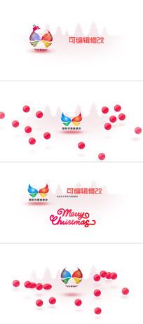 16组不同圣诞新年logo标志演绎ae模板