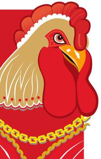 2017鸡年鸡卡通矢量图形
