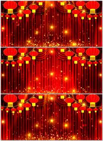 2017新年春节晚会舞台幕布LED背景