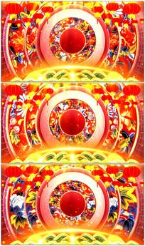 春节中国风晚会背景视频