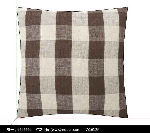 原创设计稿 3d模型库 室内装修 方格抱枕