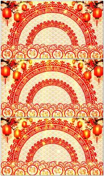 鸡年晚会中国风视频led背景