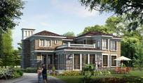 美式别墅住宅建筑景观
