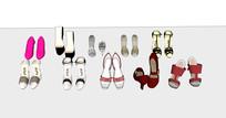 女士高跟鞋商品SU模型