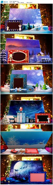 圣诞节新年祝福翻页电子贺卡视频