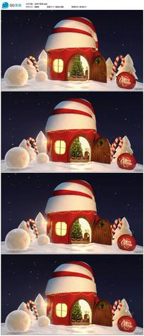 通圣诞帽造型小房子视频