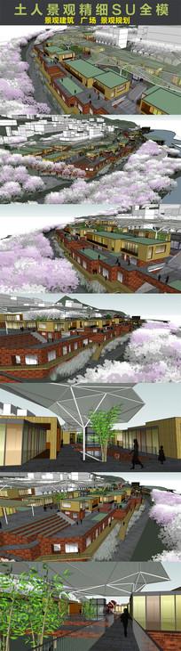 一套超漂亮的重庆景观广场SU模型