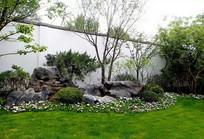 草坪景石装饰景观