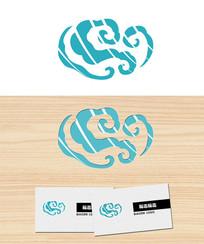 风中云祥云形logo标志 PSD