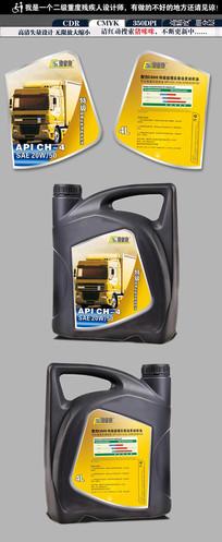 工程车润滑油包装设计