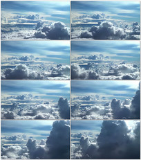 航拍高空云层视频