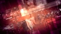 红色三维空间科技方块滑动企业宣传视频模版
