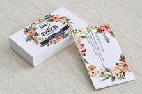 花朵婚庆名片