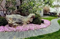 景观石植物造景