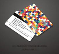 精美时尚色块会员卡设计