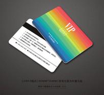 七彩虹会员卡背景设计