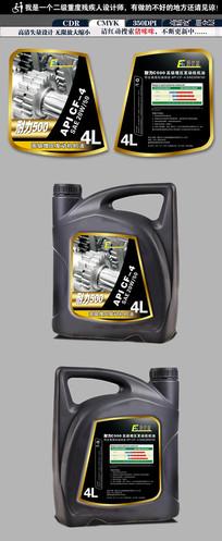 汽车齿轮油瓶贴