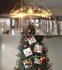 圣诞树新年家庭美好回忆相册模板