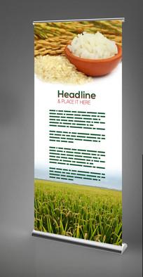 水稻香米X展架设计 PSD