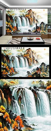 泰山日出油画图
