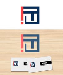 字母T叹号公司logo标志