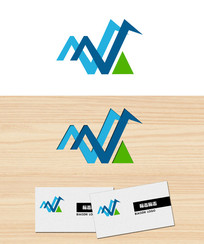 字母v三角形logo标志