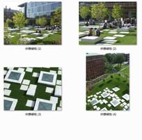 大学实验室前休憩绿地景观设计