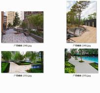 广场铺装现代风格景观实景图