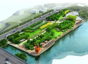 现代临水小公园景观jpg