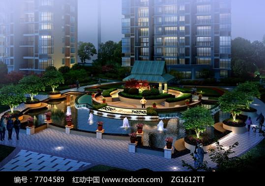 现代住宅小区入口景观jpg图片