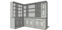 转角酒柜装饰柜收纳柜模型