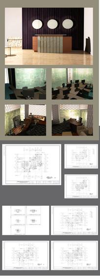 办公空间效果图和CAD图全套