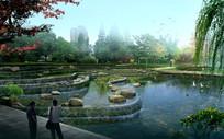叠水公园景观 PSD