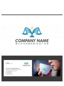 法律法庭律师事务所LOGO标志设计