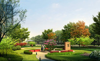 公园小空间植物造景