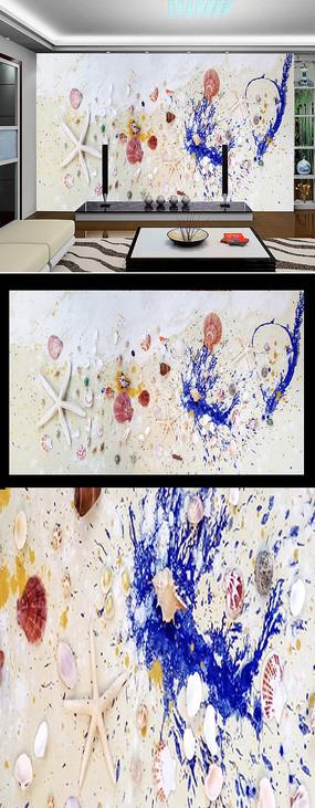 梦在书中读书日公益广告背景设计 海底世界抽象手工画背景墙 大气地球