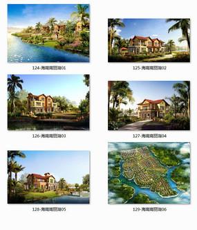 海南南丽湖别墅建筑设计