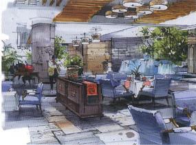 室内餐厅景观