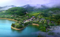 沿河中式风景区建筑景观