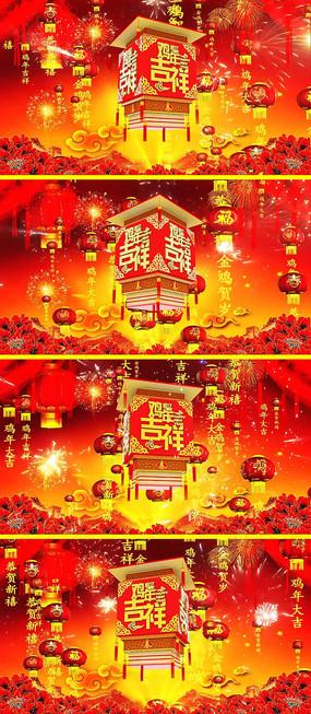 2017鸡年春晚led大屏幕视频素材