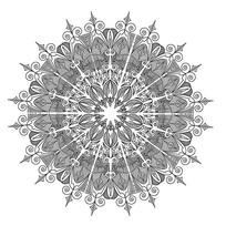 曼陀罗花边装饰图案