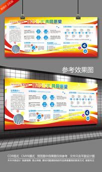 红色企业文化背景墙宣传栏