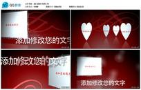 AE CS6红色婚礼写真展示视频