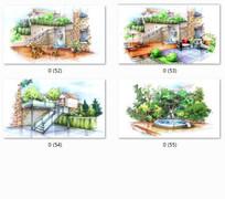别墅景观效果图